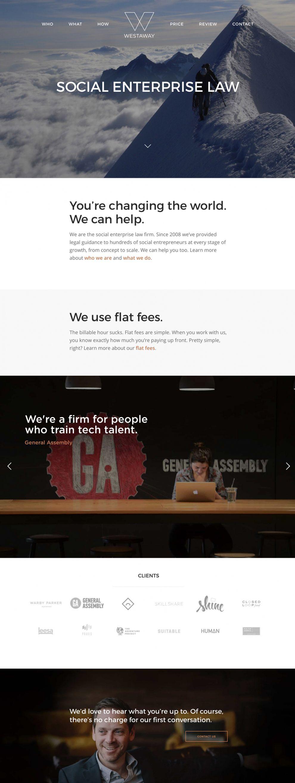 Westaway Elegant Homepage