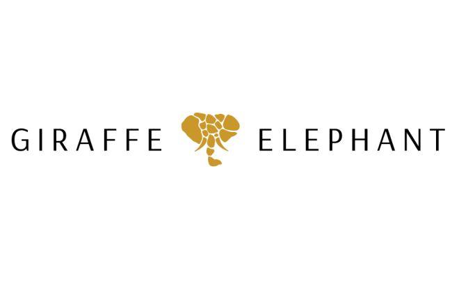 Giraffe & Elephant Illustrated Logo Design