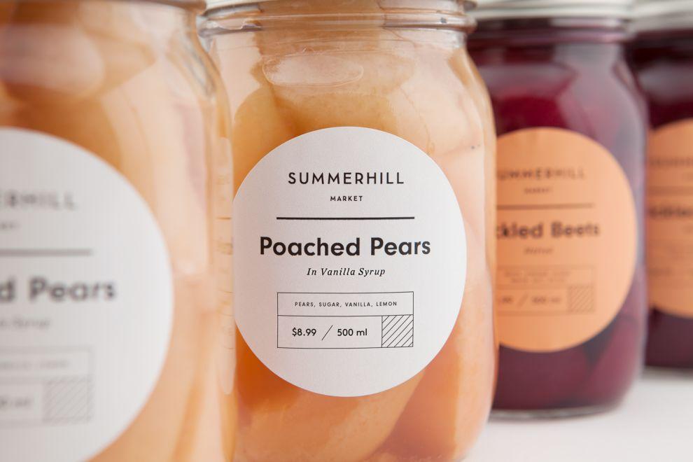 Summerhill Market Simple Package Design