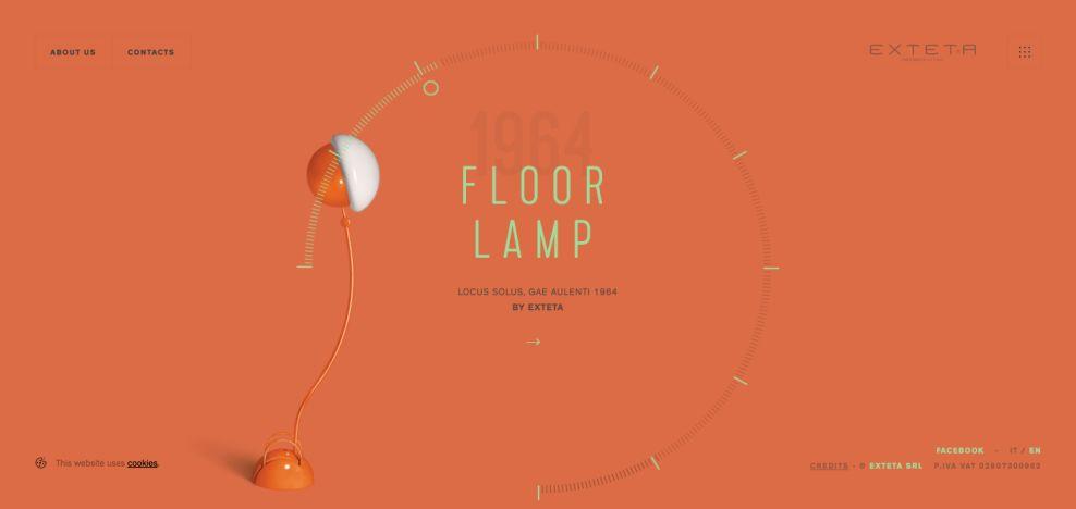 Locus Solus by Gae Aulenti - Exteta Colorful Website Design
