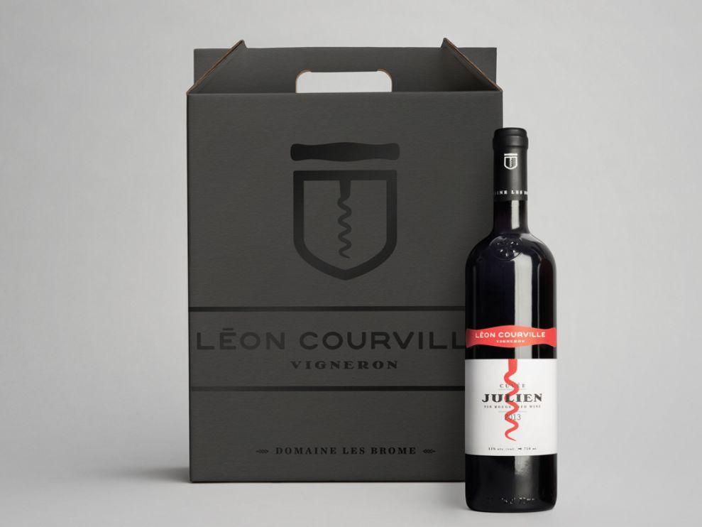 Léon Courville Vigneron Elegant Package Design