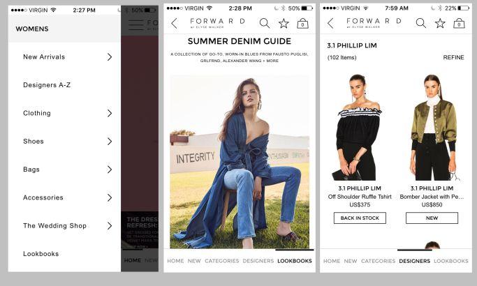 FWRD Clean App Design