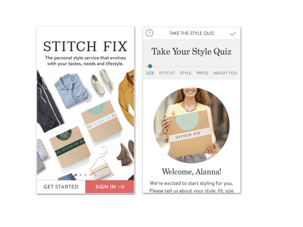 Stitch Fix App Design
