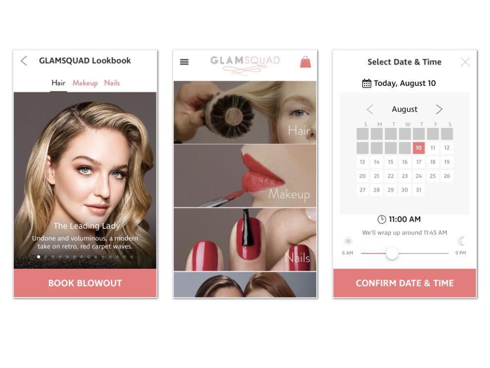 Glamsquad Minimalist App Design