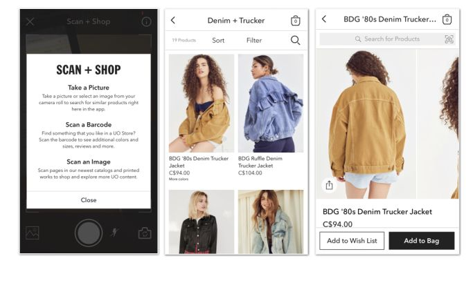 Urban Outfitters Clean App Design