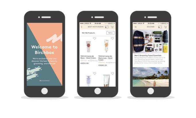 Birchbox Amazing App Design