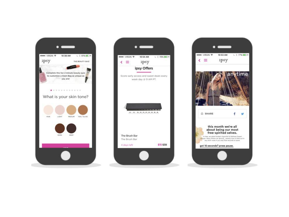 Ipsy Great App Design