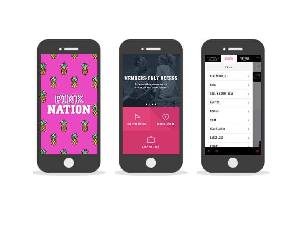 Pink Nation Bold App Design