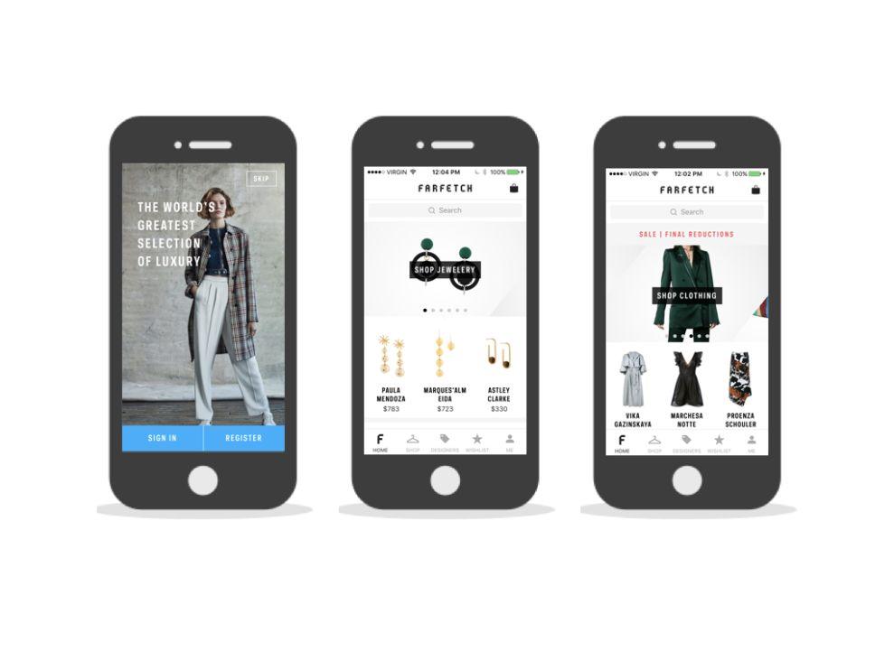 Farfetch Top App Design