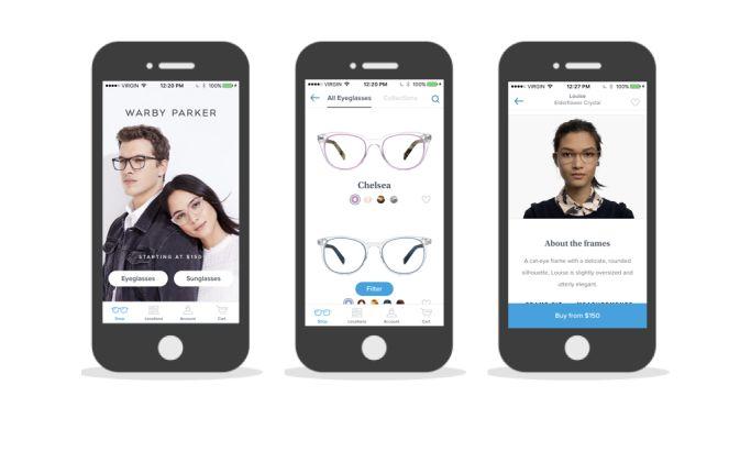 Warby Parker Gorgeous App Design