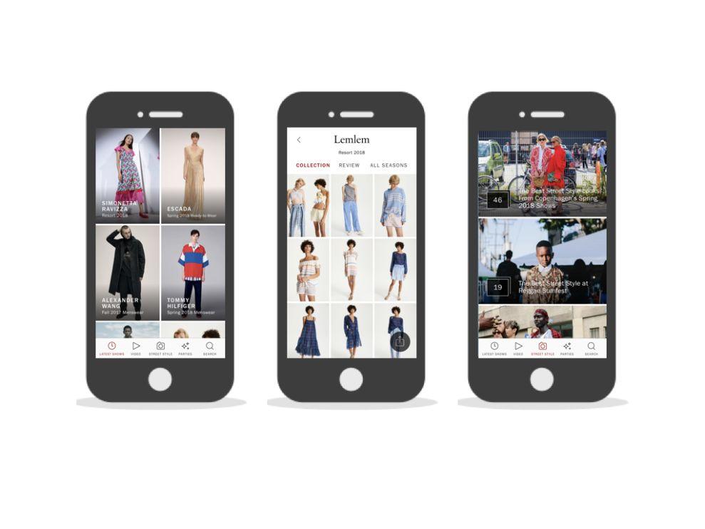 Vogue Runway Amazing App Design