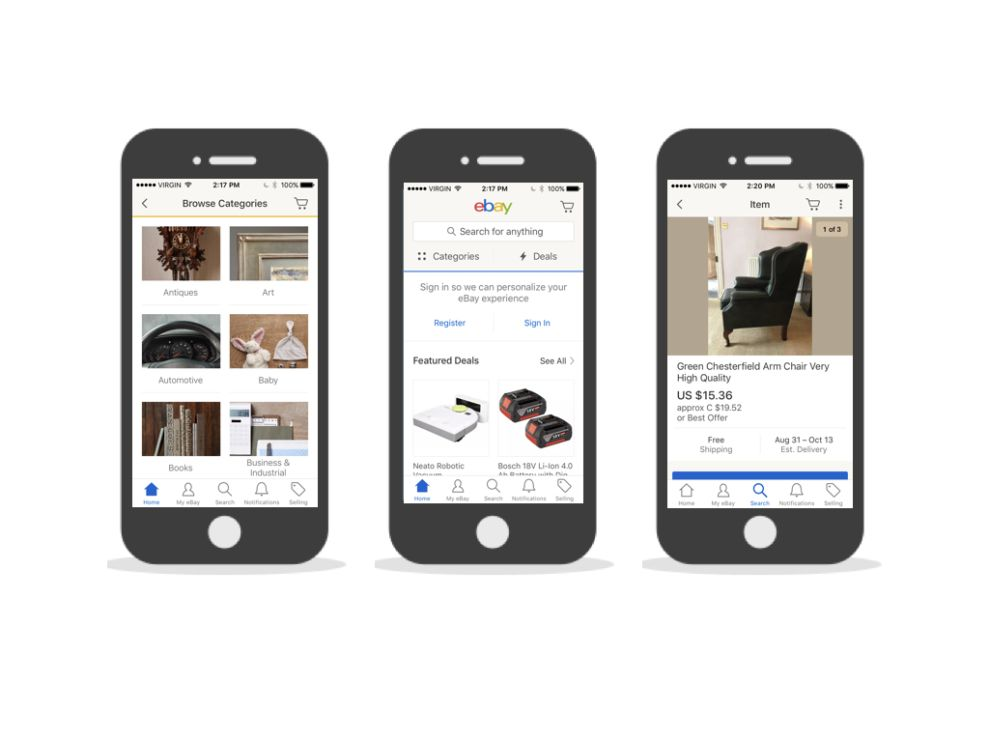 eBay User-Friendly App Design
