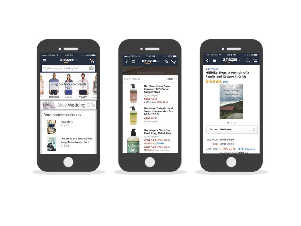 Amazon Top App Design