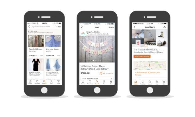 Etsy Clean App Design