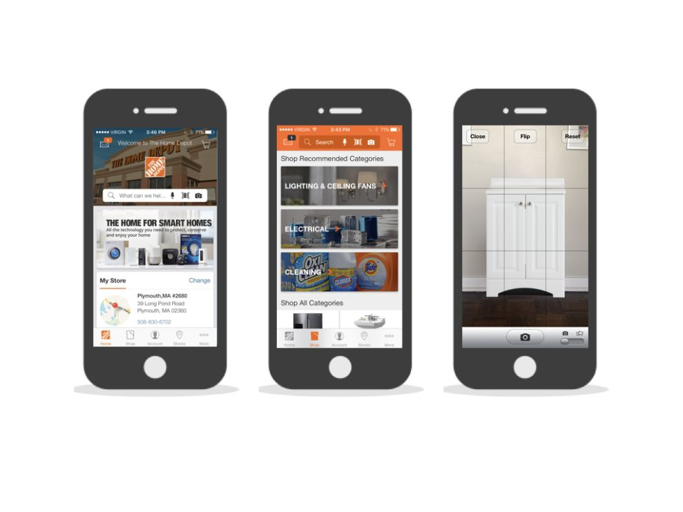 Home Depot Great App Design
