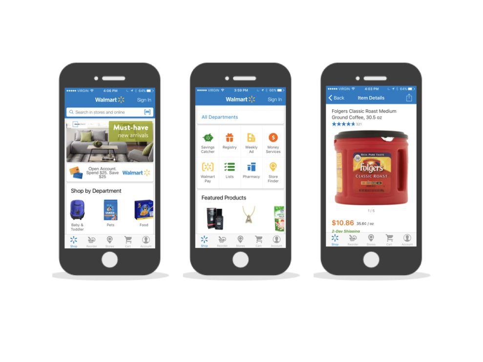 Walmart Bright App Design