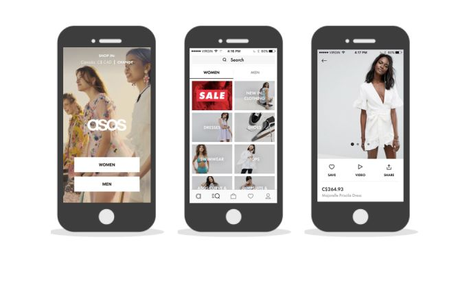 ASOS Cool App Design