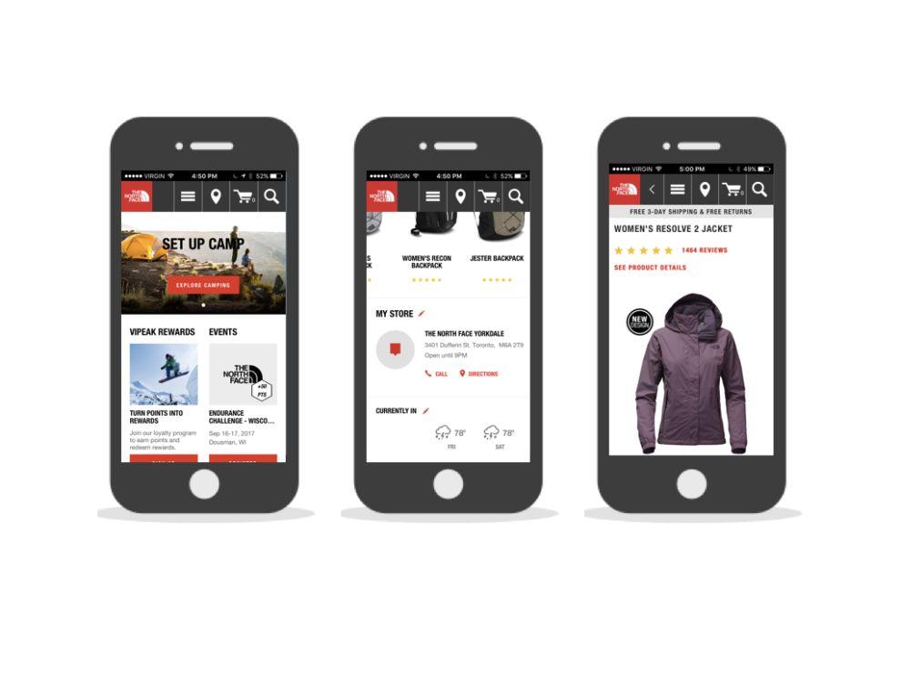 The North Face Amazing App Design