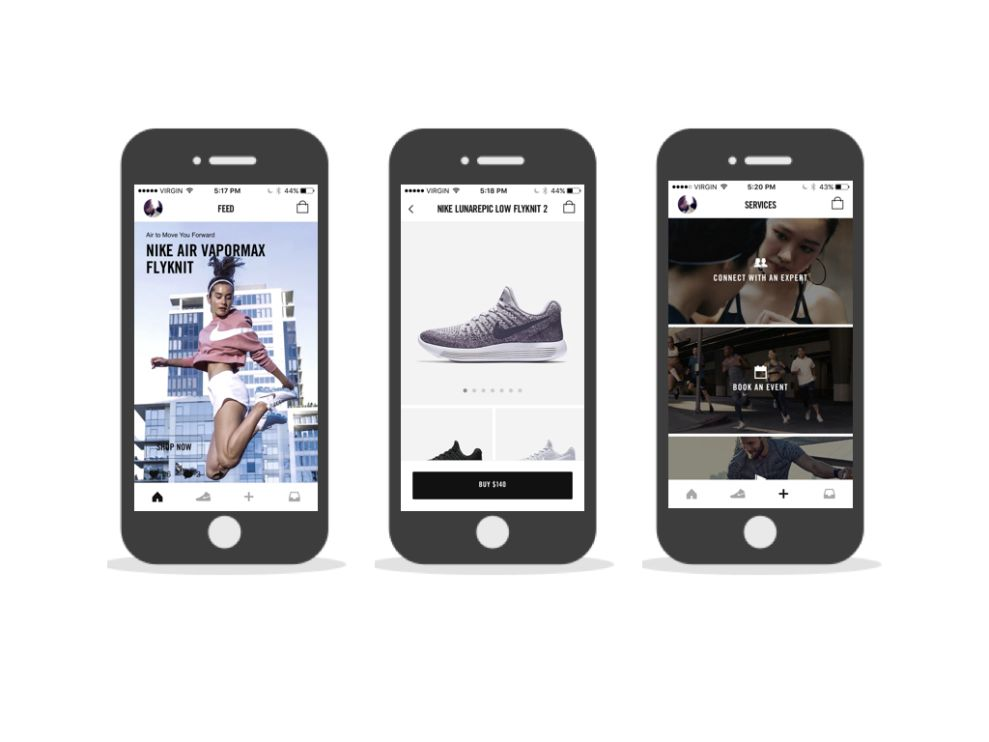 Nike Stunning App Design