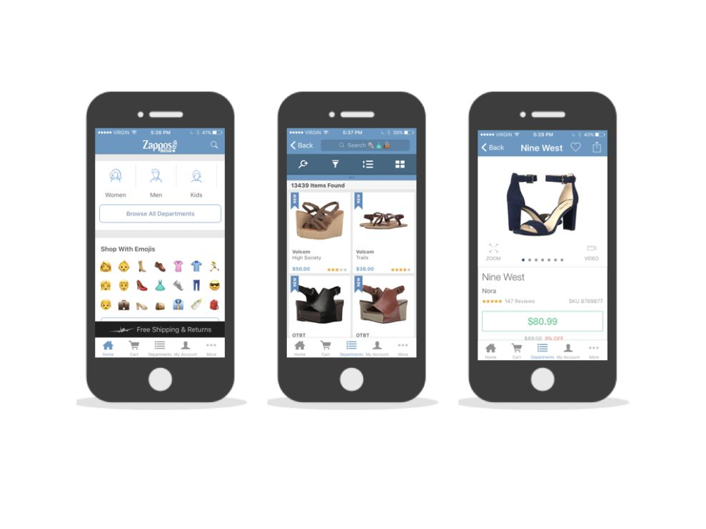 Zappos Cool App Design