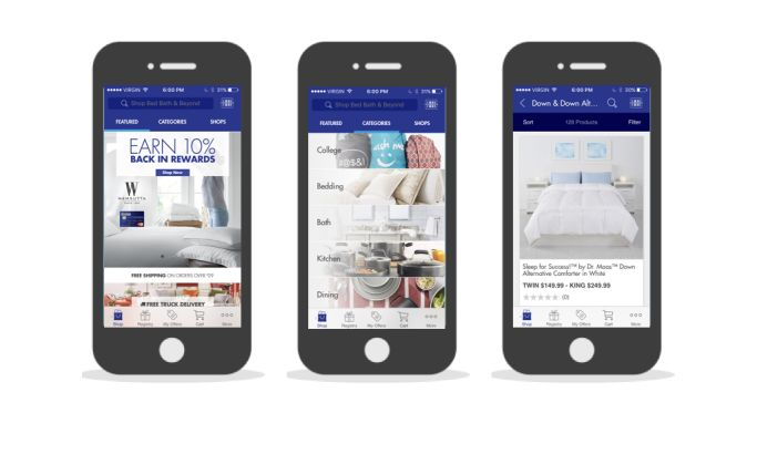 Bed, Bath & Beyond Top App Design