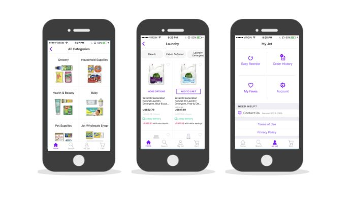 Jet.com Simple App Design