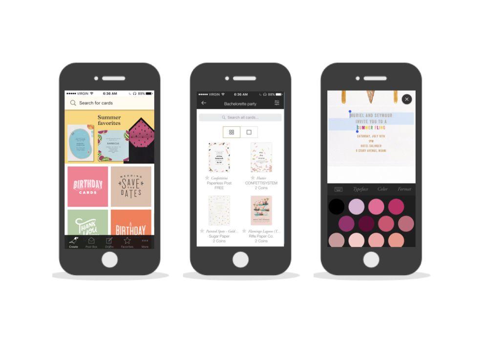 Paperless Post Top App Design