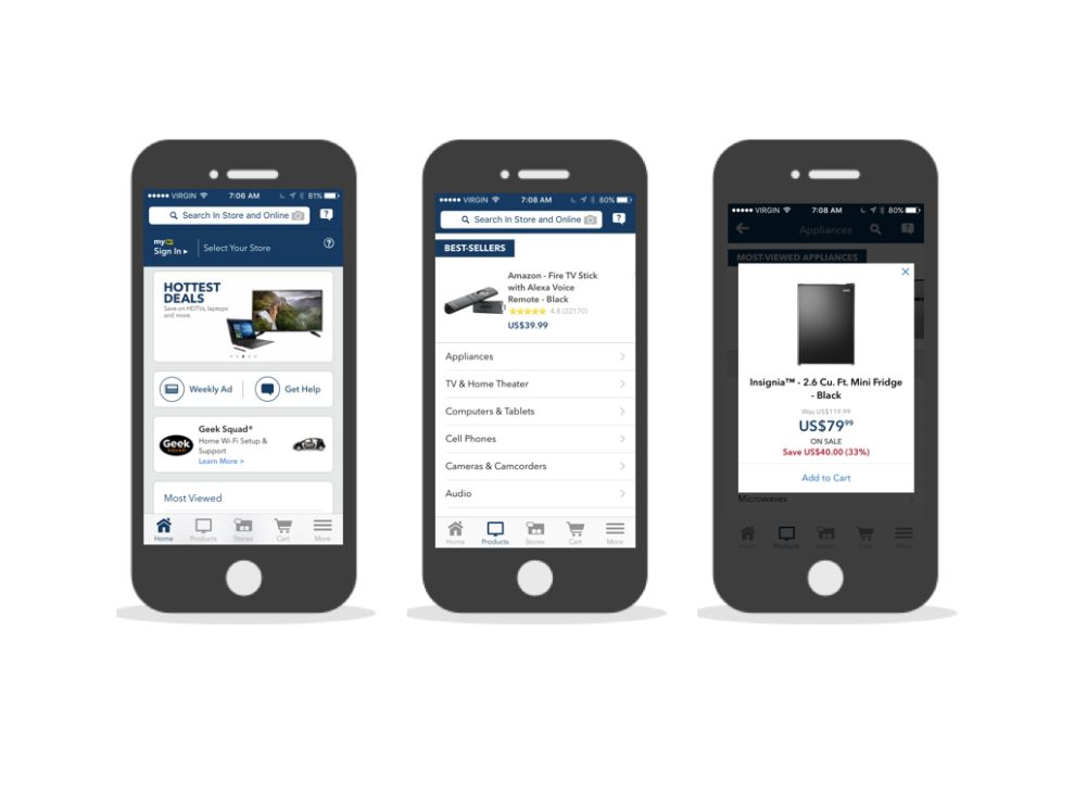 Best Buy Simple App Design