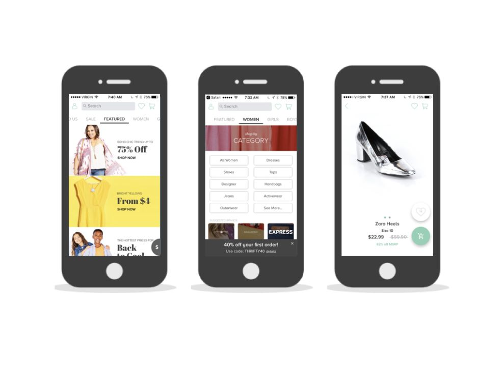thredUP User-Friendly App Design