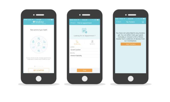 Healow Flat App Design