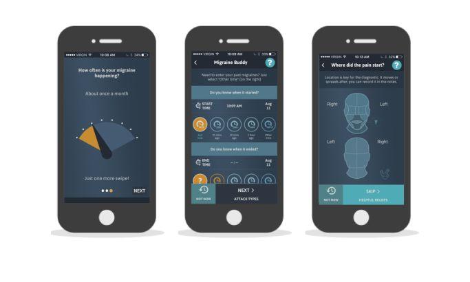Migraine Buddy Illustrated App Design