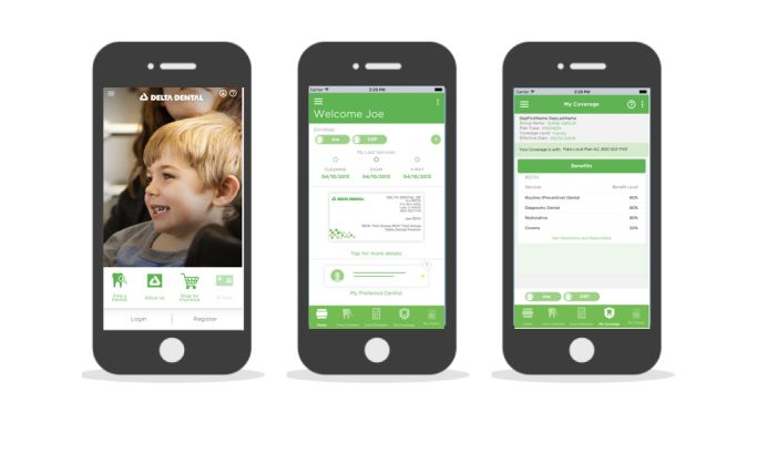 Delta Dental Mobile Modern App Design