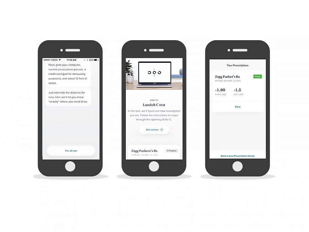 Prescription Check by Warby Parker Amazing App Design