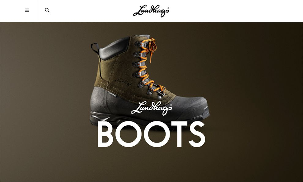 Lundhags Boots Elegant Homepage