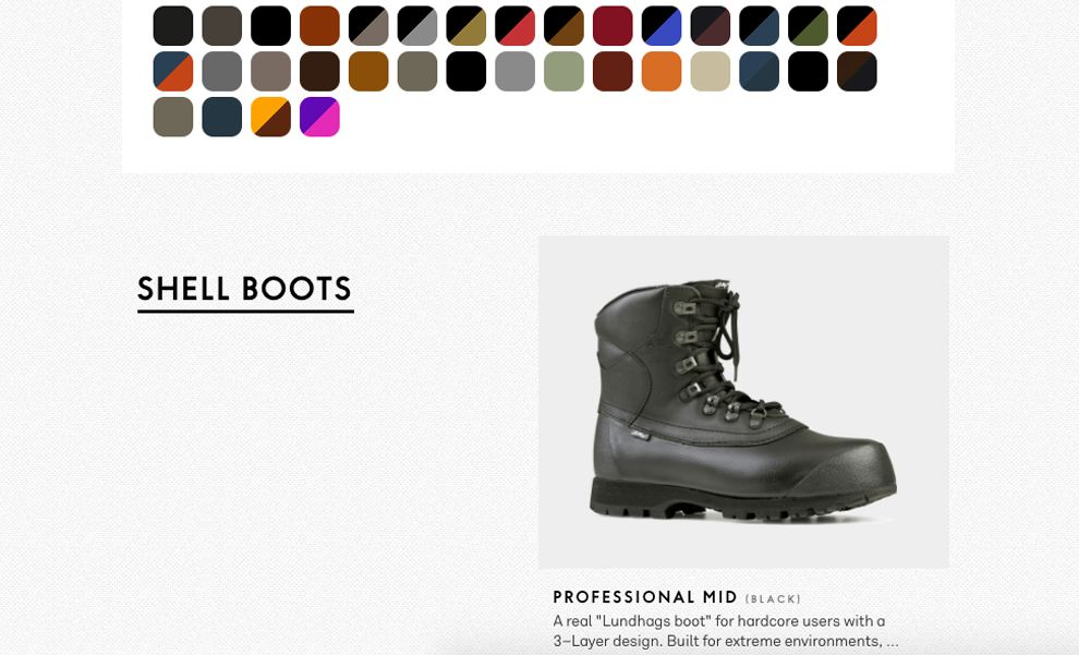 Lundhags Boots Elegant Product Page