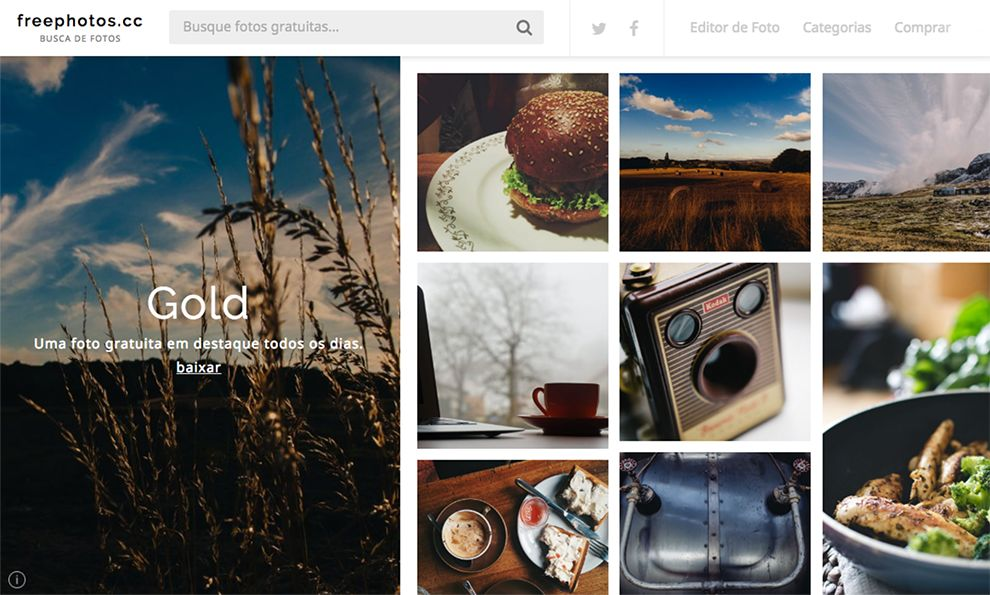 FreePhotos.cc Clean Website Design