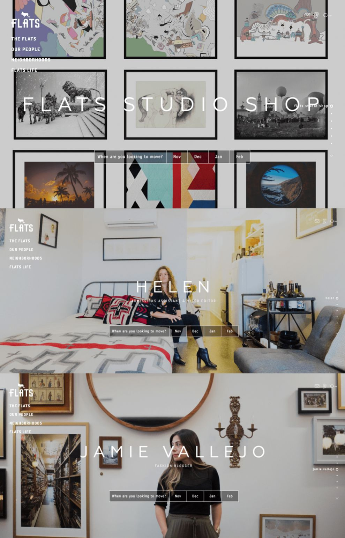 FLATS Chicago Elegant Homepage
