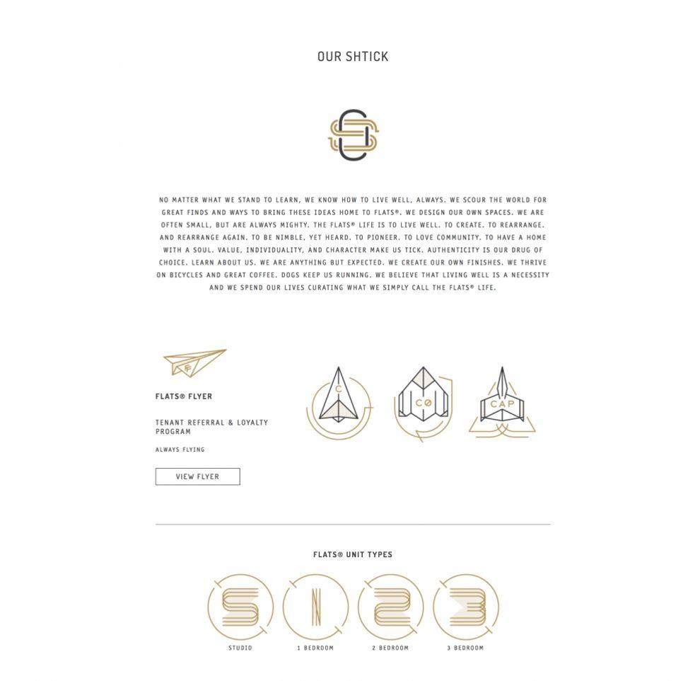 FLATS Chicago Elegant Website Design