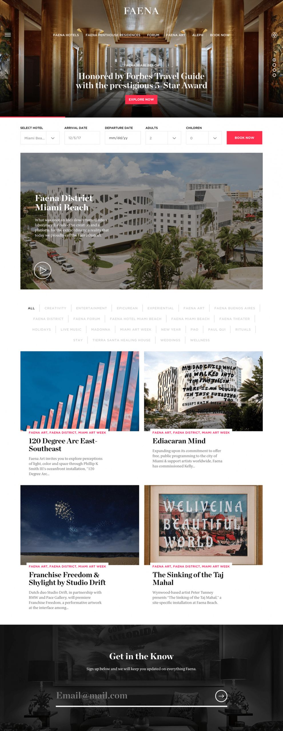 Faena Group Clean Homepage