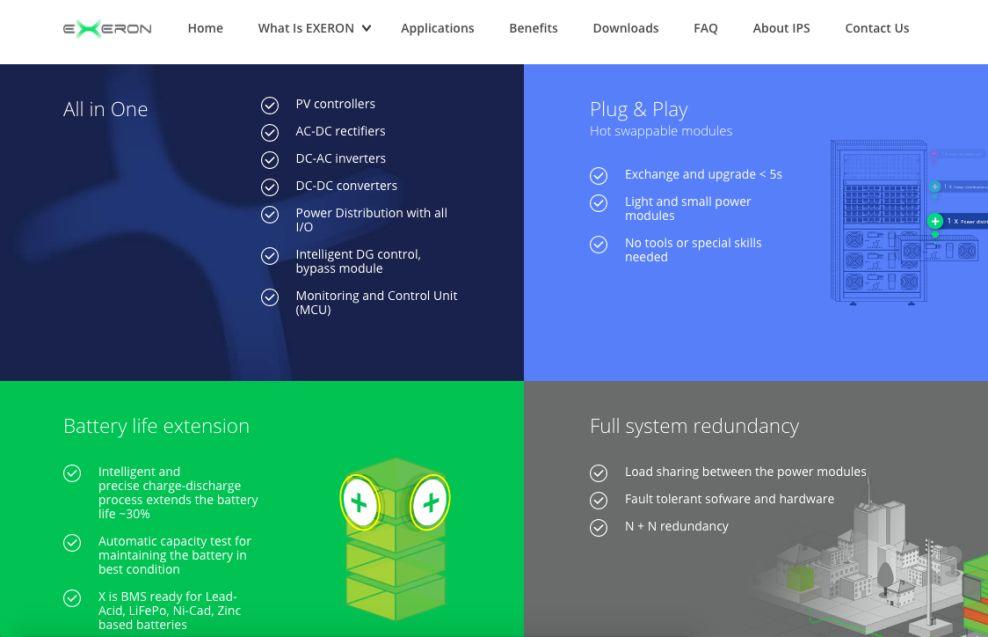 Exeron Awesome Website Design