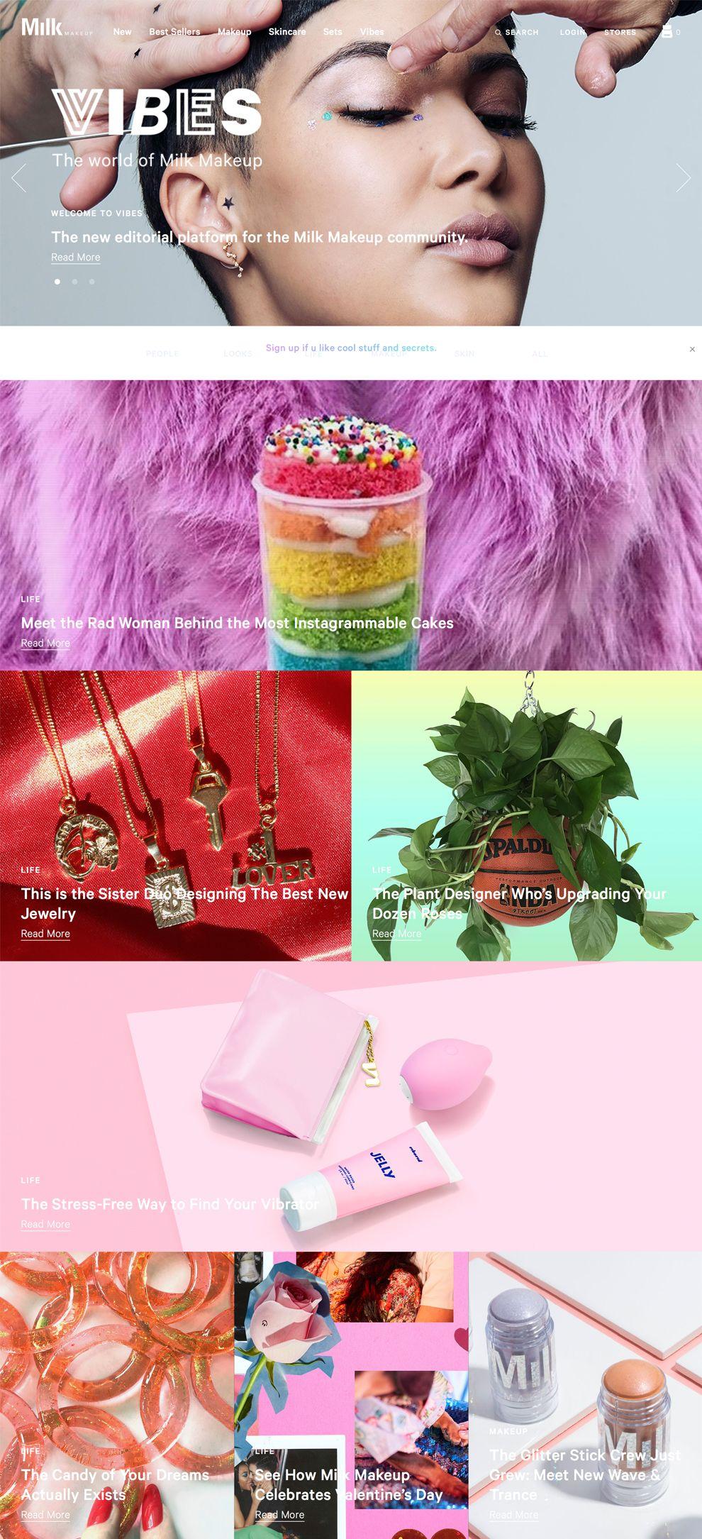 Milkmakeup Great Website Design