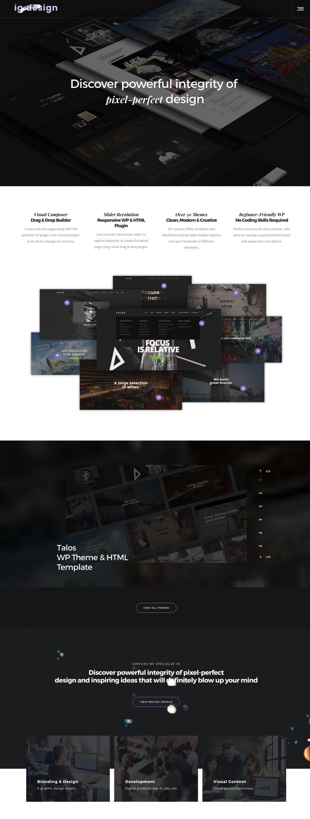 IG Design Clean Homepage