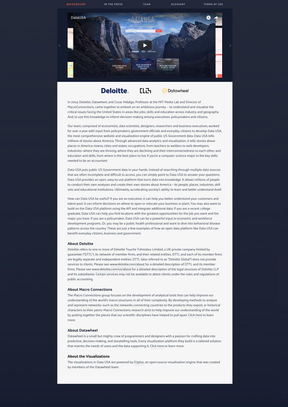 Data USA Great Website Design