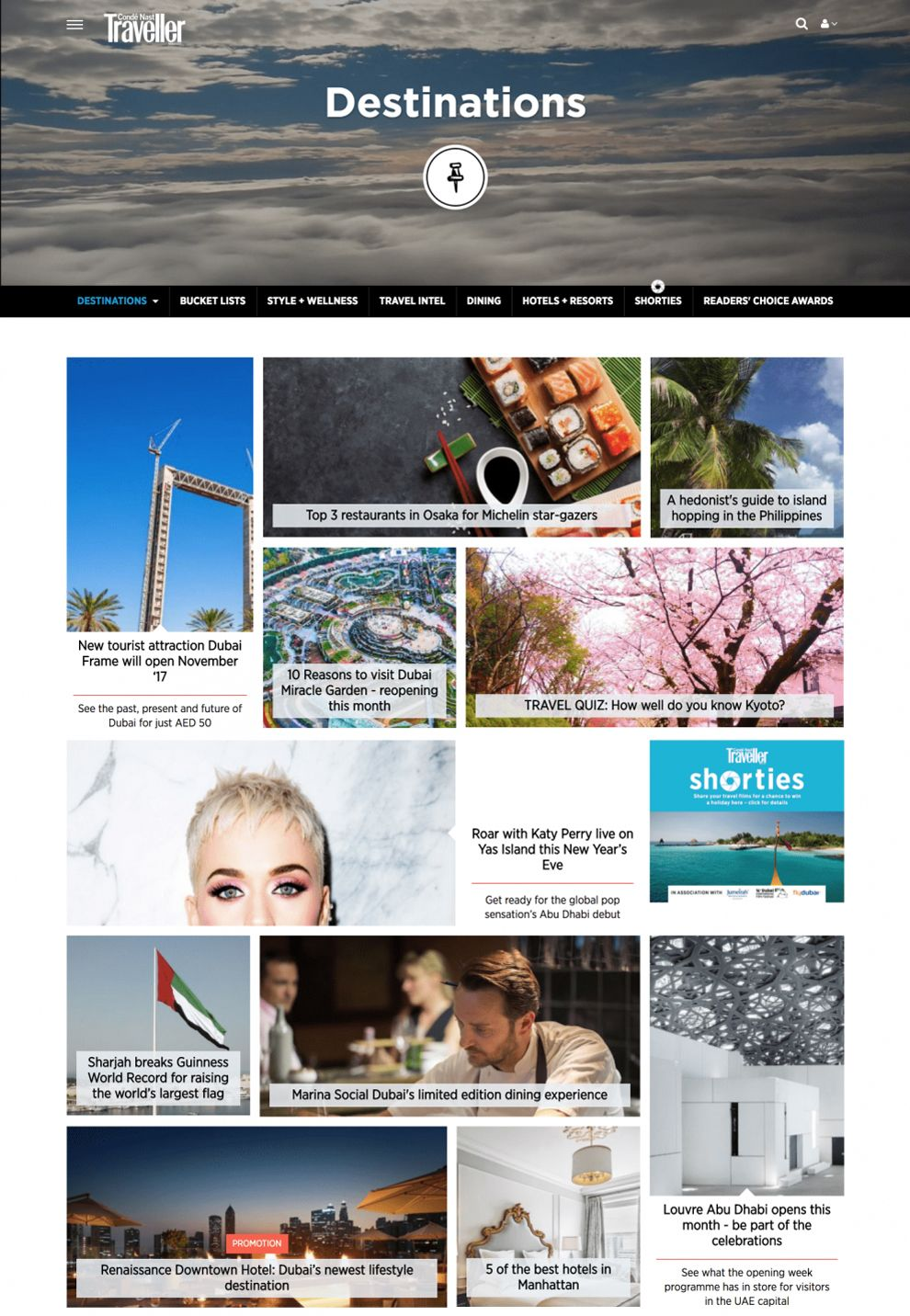 Conde Nast Traveller Clean Product Page