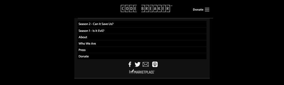 CodeBreaker Great Menu Design