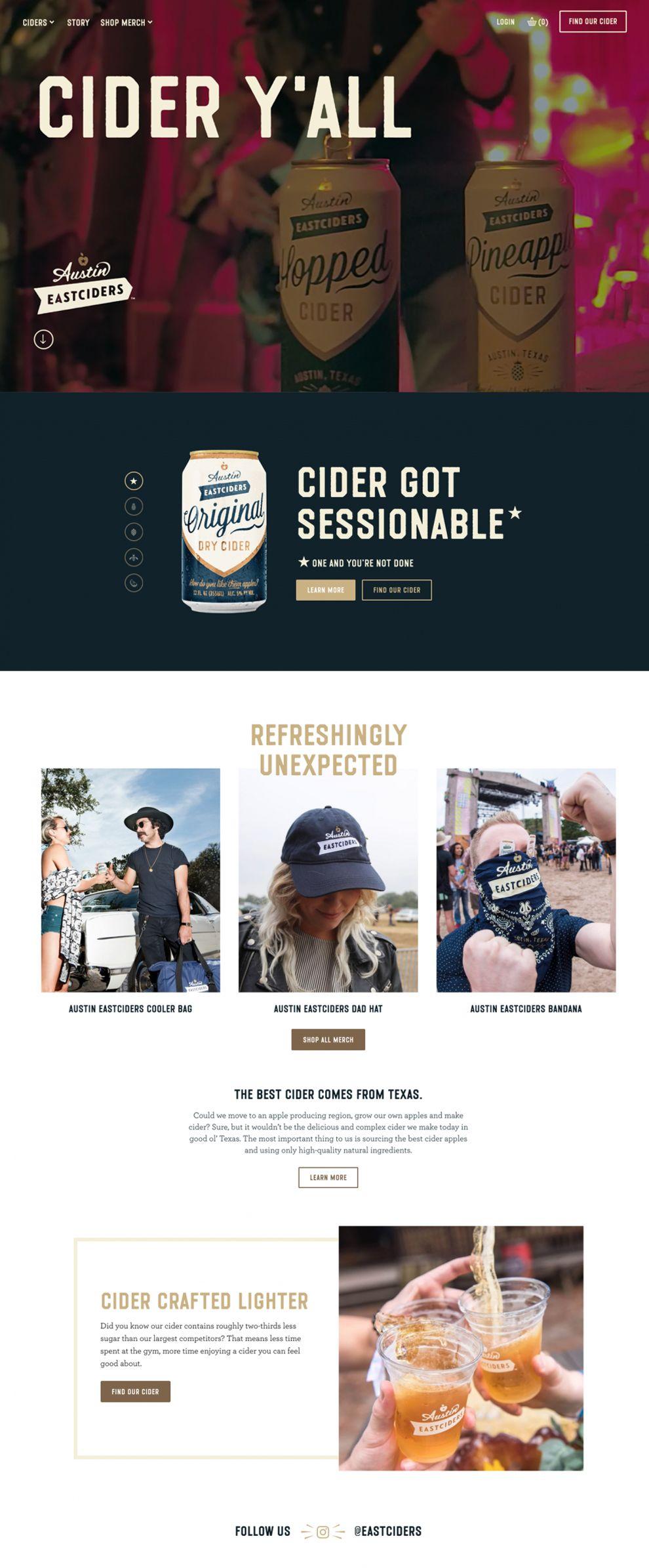 Austin Eastciders Great Website Design