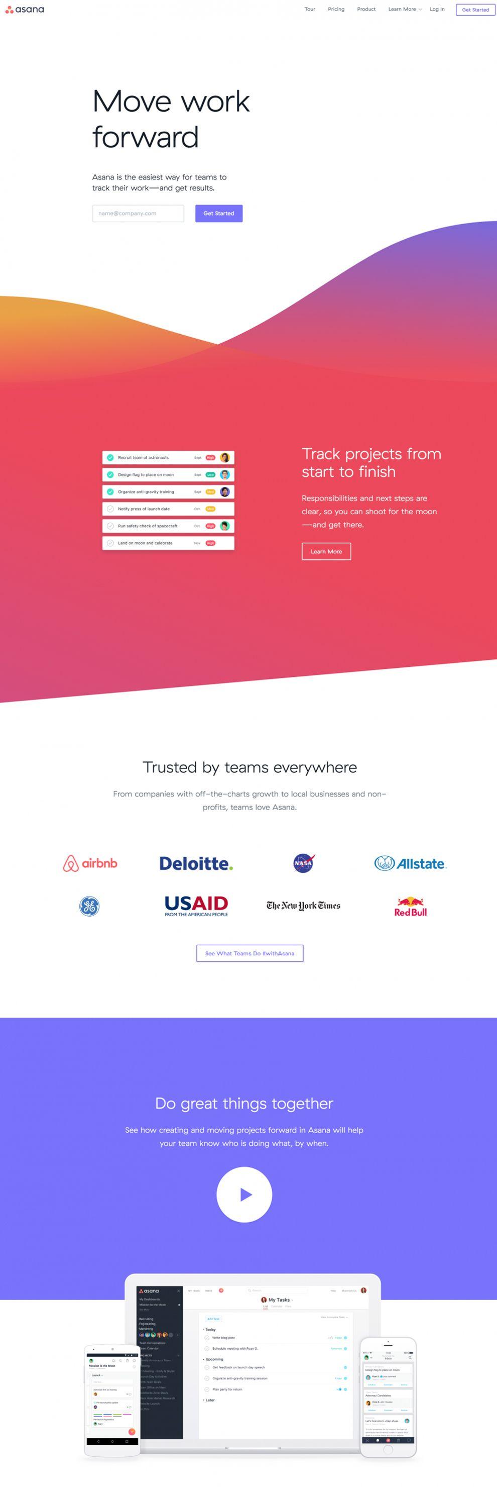 Asana Amazing Homepage