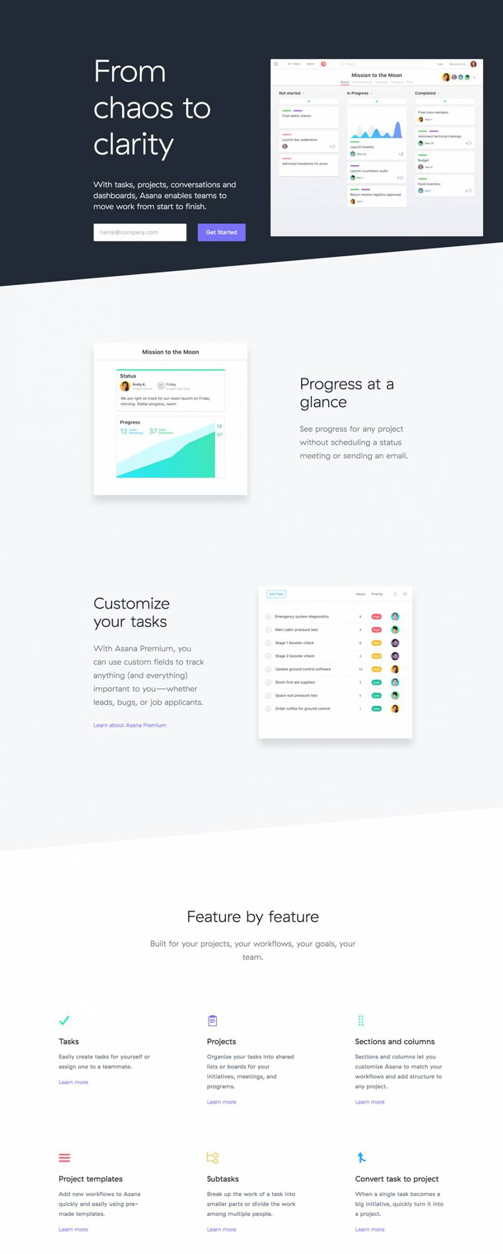 Asana Amazing Website Design