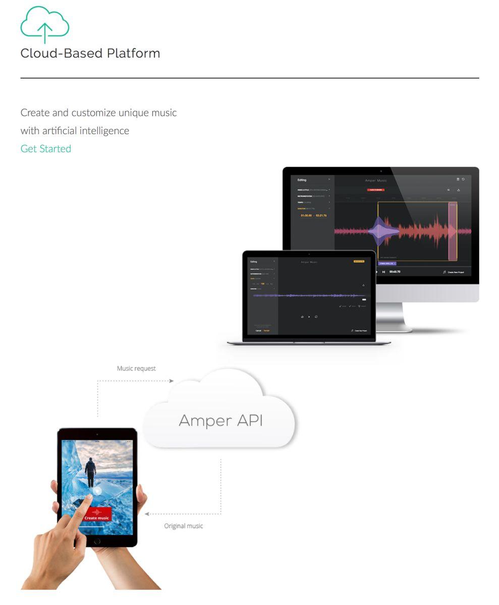 Amper Music Great Website Design
