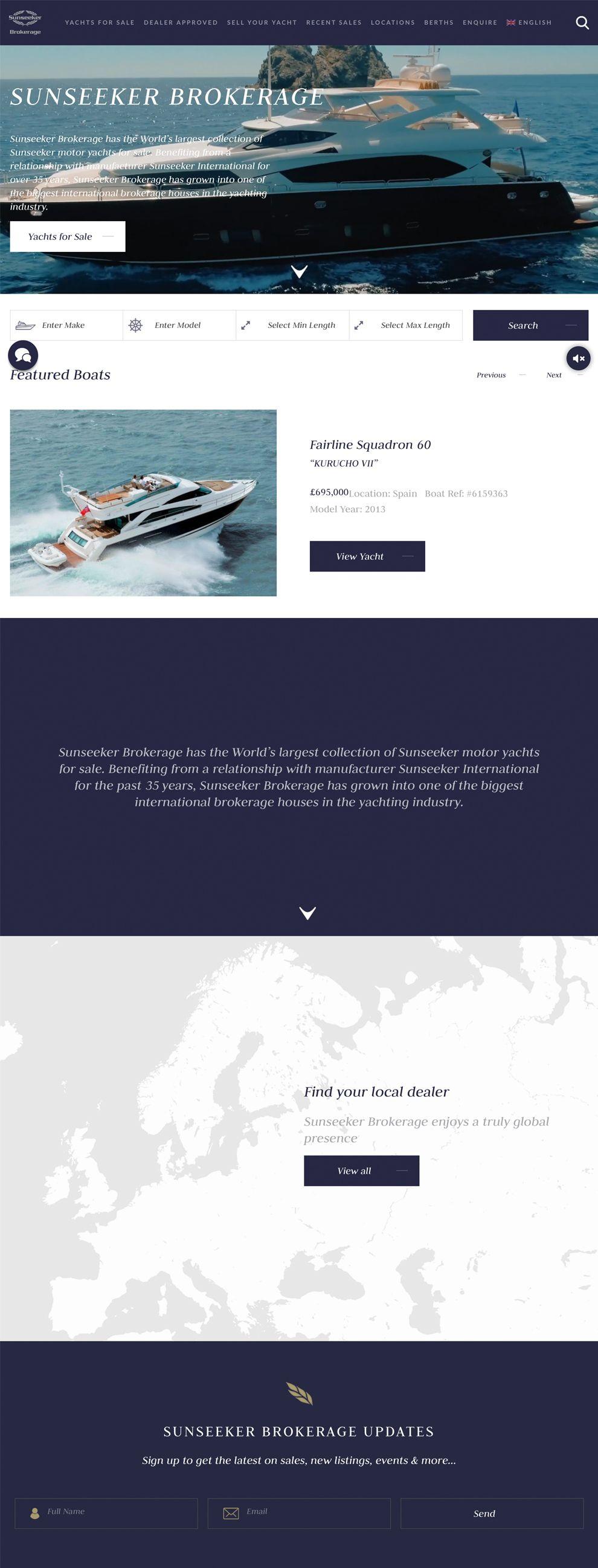 Sunseeker Brokerage Great Homepage
